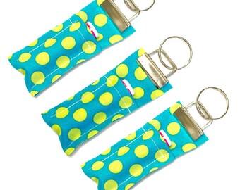 Lip Balm Case Teacher Gift Stocking Stuffer Chapstick Holder Lip Balm Holder Chapstick Keychain Lip Balm Cozy Fabric Keychain Key Chain