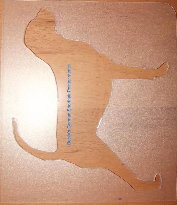 Puppy Bows ~ German Shorthair Pointer dog breed plastic craft stencil