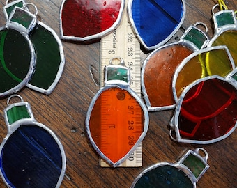 Colored Lights, Stained Glass, Christmas Tree, Christmas Ornaments, home decor
