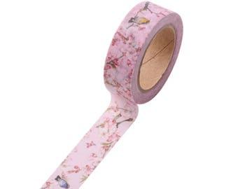 Kawaii robin washi tape