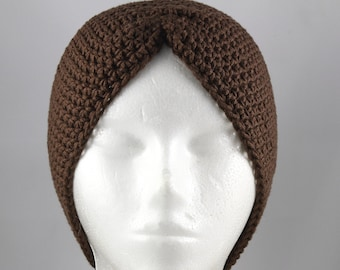 Chocolate Brown Turban Hat for Cancer Patients - Cancer Hat/Chemo Hat/Cancer Cap/Chemo Cap