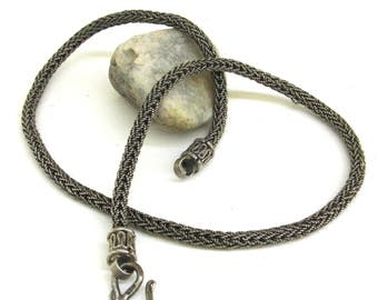 ethnic and tribal   ...  elegant  and  strong  ...   vintage sterling silver chain   ...   thai silver