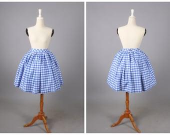 """Lola Skirt """"Morocco Blues"""" Blue Gingham"""