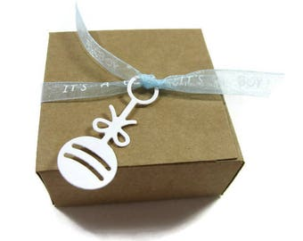 It's a Boy Baby Shower Favor Boxes Set of 10 Ready to Ship