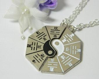 Unique Yin Yang Lovers Couple/ Friendship/Best Friend Silver Pendant Necklace,Ktisch.Funky.Gift.Valentine