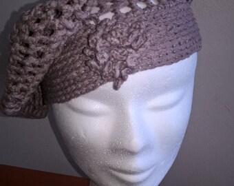 Lilac crochet Flower hat