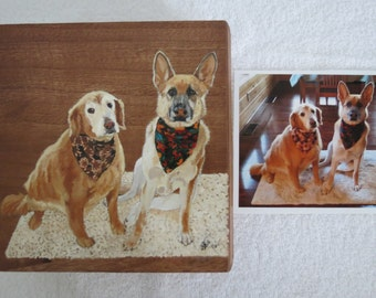 Pet Portrait Keepsake Treasure Box Hand Painted Made to Order by Pigatopia