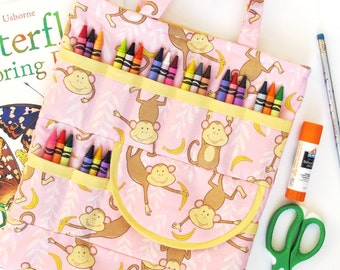 Crayon and Craft Bag-  immediate download of PDF sewing pattern - free shipping