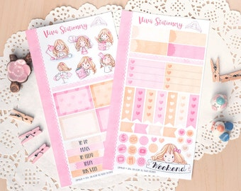Personal Planner Decorative Sticker Kit, two pages ~Valerie~ For your Diary, Journal, Scrapbook, Filofax, Kikki K, Kate Spade..