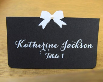 Customize Your Color, Set of 10 Wedding,  Bridal Shower, Baby Shower, or Birthday Party Place Cards, Chalk and Chalkboard Look