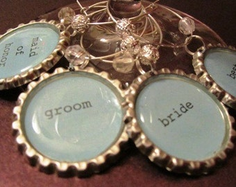 Wine Charms. Wedding Charms - Set of 4