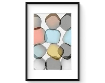 GLASS no.4 - Giclee Print - Contemporary Modern Style Minimalist Modernist  Abstract