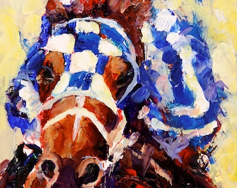 Secretariat  Art Print of Original Acrylic Painting 8x10