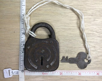 Vintage Old Lock Padlock With Key Working Condition Used