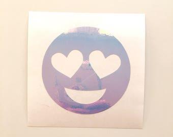 Heart Eyes Emoji Decal