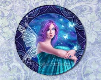 Astraea Fairy with Butterflies Pocket Mirror