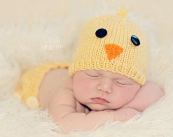 Baby Chick Hat • Chick Newborn Hat • Chicken Newborn Hat  • Newborn Photo Prop • Spring Baby Hat • Chicken Baby Hat • Baby Shower Gift