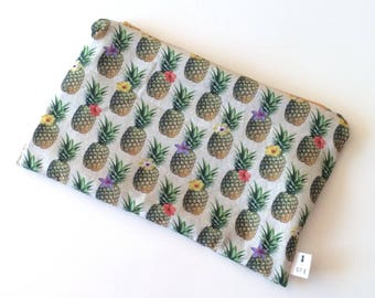 PINEAPPLE pouch with zipper