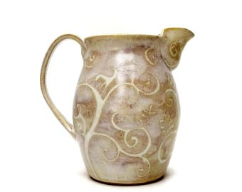 Jug - Stoneware, hand thrown pottery
