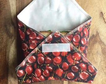 Reusable Food Wrap, Cloth Sandwich Wrap, Zero Waste, Lunch Wrap Placemat,Reusable Placemat, Kids Snack Wrap,Reusable Snack Bag, Gift for Her