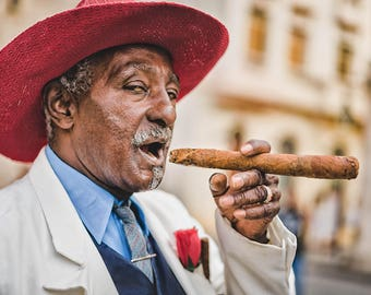 Welcome to Havana - Photography Fine Art Print, Wall Picture, Home Decor, Living Room Print, Cuban Cigar Art, Travel Photography, Cuban Art