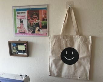 White Smiley Tote