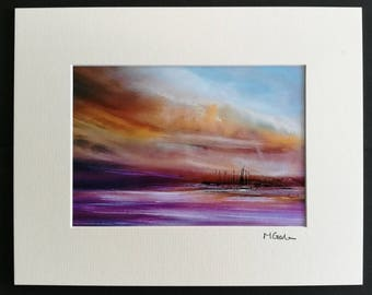 Storm Passing - Abstract Emotional, Art, Photographic Print, mounted, love, seascape, turneresque, purple