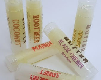 Lip Balm - Lip Gloss - Lip Butter - Custom Lip Balm - Flavored Lip Balm - Natural Lip Balm - Wedding Favors - Party Favors - Unflavored Balm