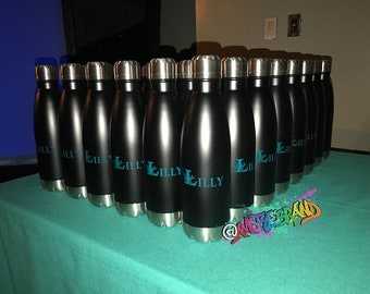 50 Promotional 16 oz Stainless steel water vacuum bottles, Great for Events, Mitzvah's party favors, Corporate holiday giveaways, and more!