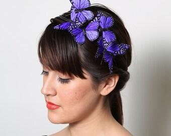 Purple Butterfly Headband - woodland, fairy tale