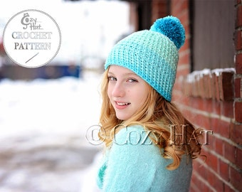 CROCHET PATTERN Cozy Cake Beanie Hat, by Cozy Hat.