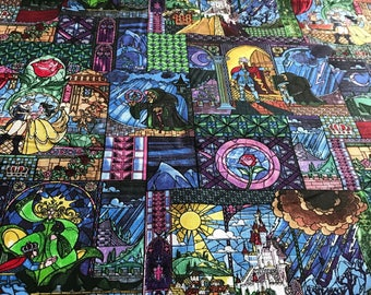 Beauty And The Beast Woven 100% Cotton Fabric - 1 yard
