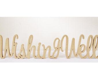 Wishing Well Wooden Wedding Sign