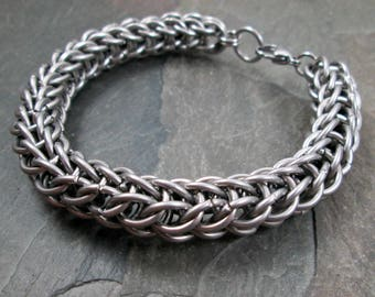 Chainmaille Bracelet - Full Persian - Stainless Steel - Chainmaille Jewelry - Mens Bracelet - Steel Chainmail - Chain Mail Jewelry
