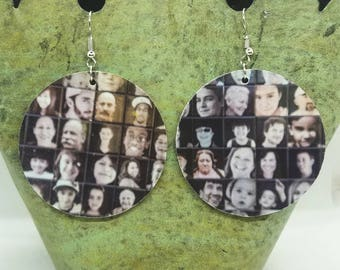 Faces of Tucson Circle Large Drop Earrings