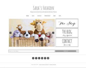 Wordpress Theme  - Genesis Wordpress Theme - Ecommerce  Woocommerce Theme - Sara's Fashion