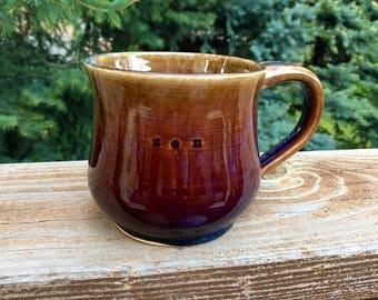 Damn Straight, Zen,Handmade, Stoneware, Pottery, Wheel-Thrown, 14 oz Mug