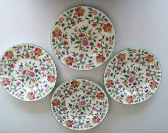 Minton Haddon Hall Set Of Four Lunch Plates