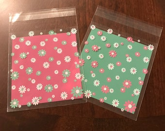 Daisy Resealable Cello bags, Cookie  Wrapper