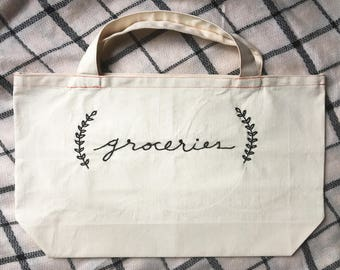 Reusable Embroidered Grocery/Market Tote Bag