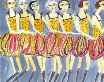 Shuffle off to Buffalo.  Limited edition print by Vivienne Strauss.