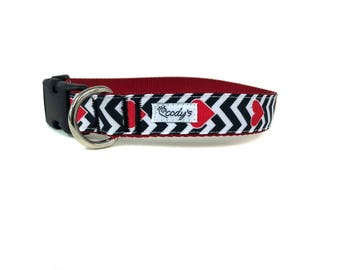 1 Inch Wide Dog Collar with Adjustable Buckle or Martingale My Love