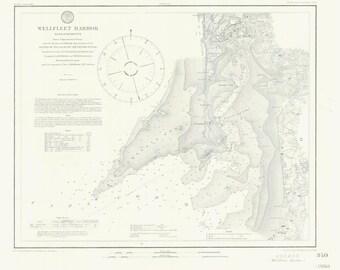 Wellfleet Harbor Map 1860