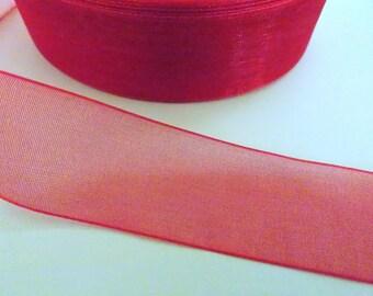 pretty red organza Ribbon