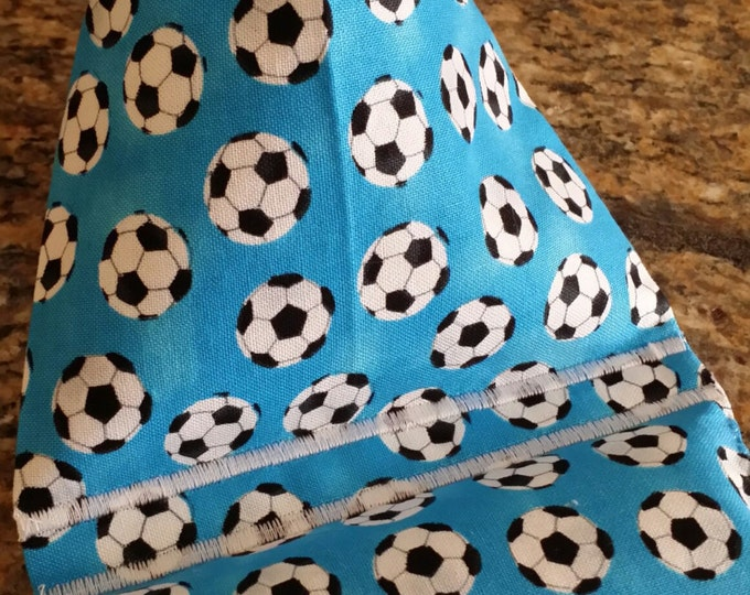 Gadget Bags-Sports Collection (Soccer Balls on Blue)