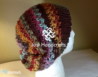 Stripes and Vs Hat Crochet Pattern
