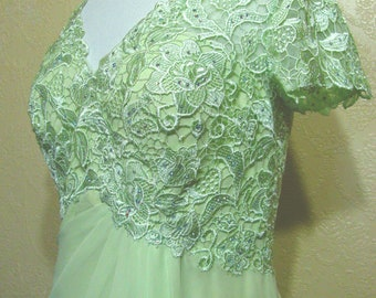 new w/tags RHINESTONES LACE & CHIFFON Gown size 12 Mother Of The Bride Dress