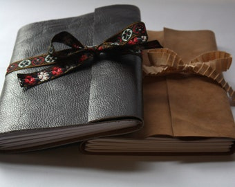A5 Handmade Leather Bound Notebook