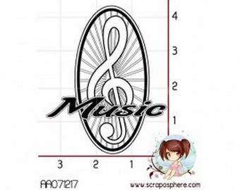 """""""Music"""" design stamp, rubber mounted on foam"""