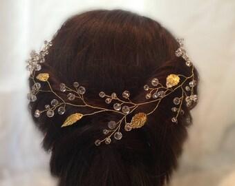 Hair Vine - Super Extra Long Pearl Hair Vine 0.2-1,5 meters - Bridal Hair Vine - Bridal  Wedding Pearl Crystal Hair Vine - SALE